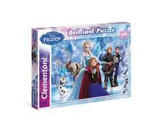 Disney, Frost, puslespill med glitter, 104 brikker, Clementoni