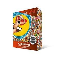 Uppblåsbar Emoji badmadrass 140 cm diameter, Heart Eyes