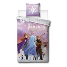 Bäddset Frozen 2 100% Bomull 150x210+50x60 cm Rosa/Lila