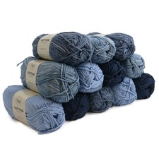 Adlibris Cotton Garn 100g I Love Blue 12-pack