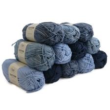 Lankapakkaus Adlibris Cotton lanka 100g I Love Blue 12 kpl