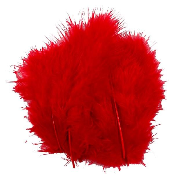 Dun, str. 5-12 cm, 15 stk., rød