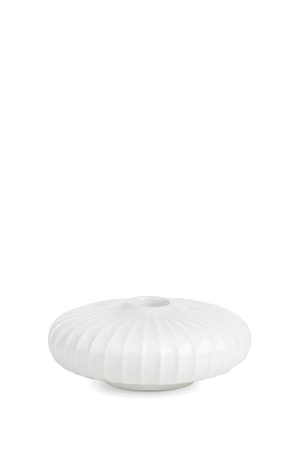 Lysestake, Hammershöi, H 4,5 cm, Hvit, Kähler
