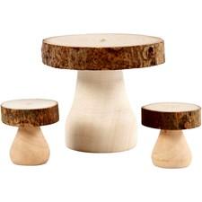 Möbelset, stl. 6x5 cm, stl. 2,5x2,5 cm, 1 set