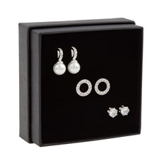 SNÖ of Sweden Gift Ear Set Astrid Silver