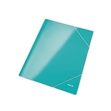 Gummibåndmappe LEITZ WOW A4 isblå