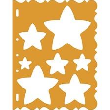 Schablon Stjärna 21x28 cm 1 st