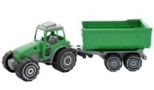 Traktori (vihreä) perävaunulla, Plasto