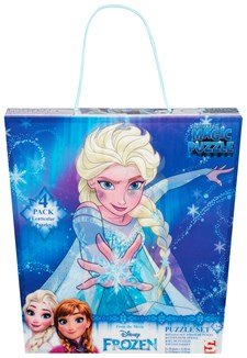 3D Pussel 4-Pack, Disney Frozen