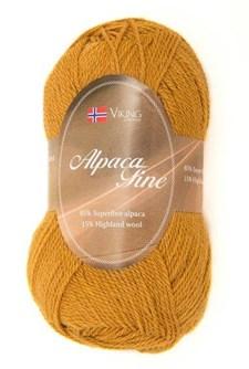 Viking of Norway Alpaca Fine Garn Alpackamix 50 g ockragul 618