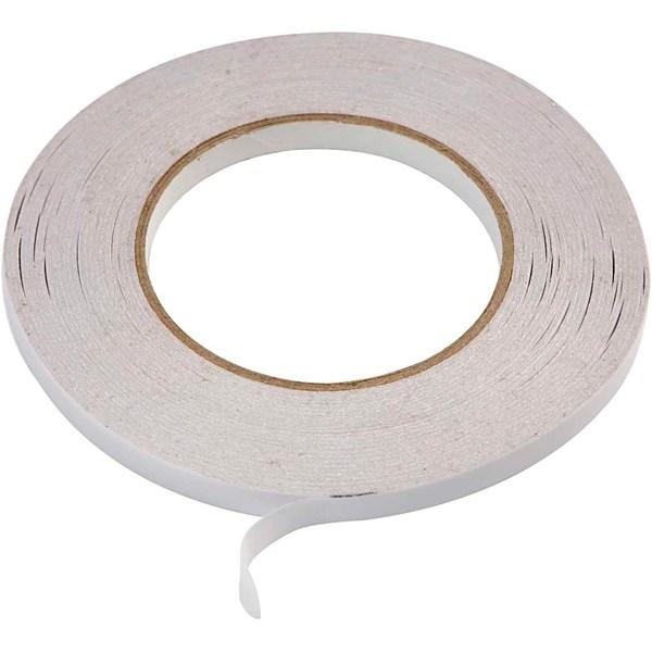Dobbeltsidig tape, B: 9 mm, 6x50m
