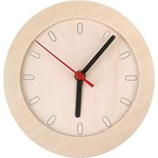 Klocka med Träram dia 15 cm Plywood 1 st