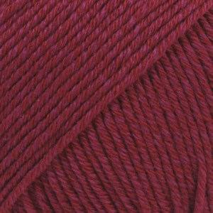 Drops Cotton Merino Uni Colour Garn Ullmix 50g Bordeaux 07