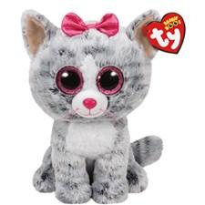 TY Kiki, Grå katt, 23 cm