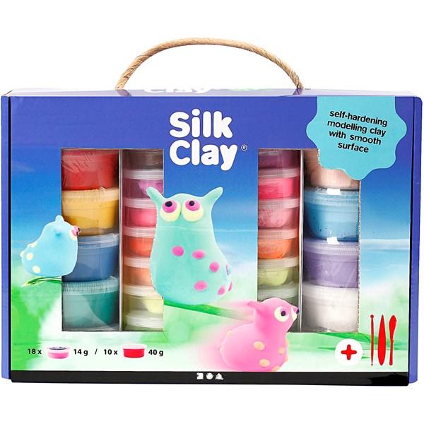 Silk Clay® gaveeske , ass. Farger, 1sett