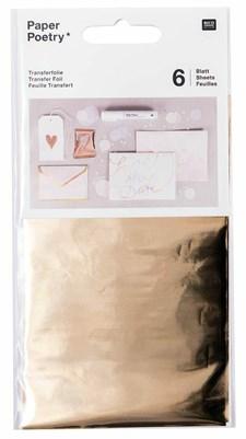 Överföringsfolie, gold 6 pack, 90 x 150 mm