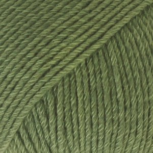 Drops, Cotton Merino Uni Colour, Garn, Ullmiks, 50 g, Skogsgrønn 11