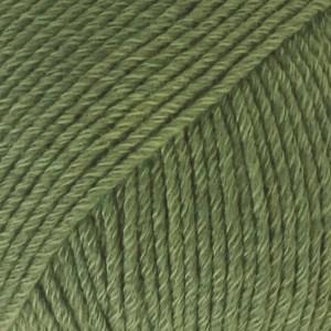 Drops Cotton Merino Uni Colour Lanka Villasekoitus 50g Forest Green 11