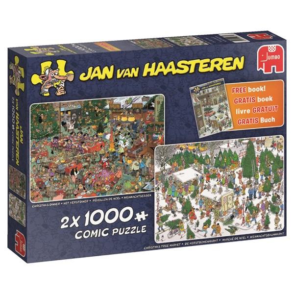 Jan van Haasteren, Christmas gifts, Pussel 2x1000 bitar