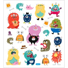 Stickers Monster ca. 25 st 1 ark