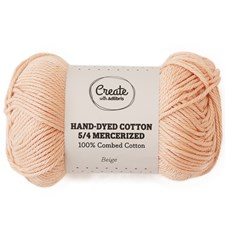 Adlibris Cotton 5/4 Hand-dyed Mercerized 50g Beige A394