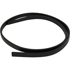 Läderband i Konstläder 10 mm x 1 m Svart
