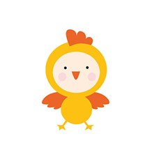 Applikation Tyg Kyckling Liten 5x7 cm