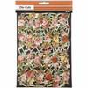 Glansbilder, ark 16,5x23,5 cm, rosebuketter, 3ark