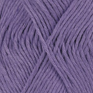 Drops, Cotton Light Uni Colour, Garn, Bomullmiks, 50 g, Fiolett 13