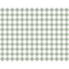Puuvillakangas 50x140 cm Vihreä/Vaaleanpunainen