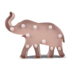 Belysning Elefant Rosa