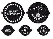 Kakkusabluuna, Birthday 2 X 24 cm, 3 X 12 cm