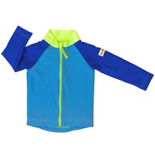 Swim & Sun Jacket, Plain Blue/Green, Str. 62-68, ImseVimse