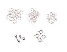 Smyckeslås Set Springringar Silverfärg 4 st
