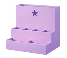 Skrivbordsförvaring Star, Rosa/lila, Kids Concept