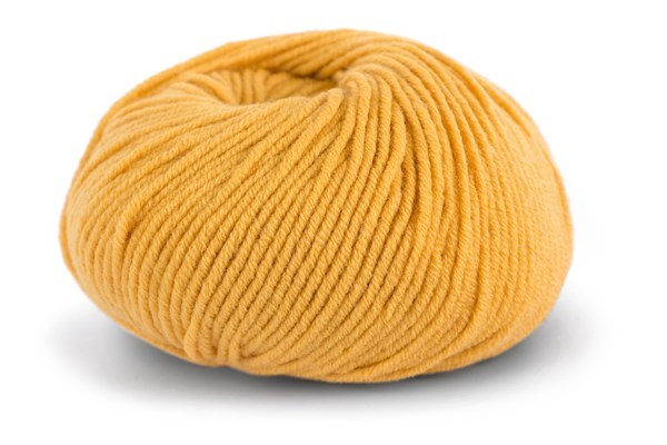 Knit At Home Superfine Merino Wool Ullgarn 50 g Varm Gul 318