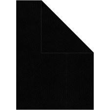 Strukturpapper, A4 210x297 mm, 100 g, 20 ark, svart