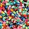 Rörpärlor,  medium , stl. 5x5 mm, ränder, 1100mix., hålstl. 2,5 mm
