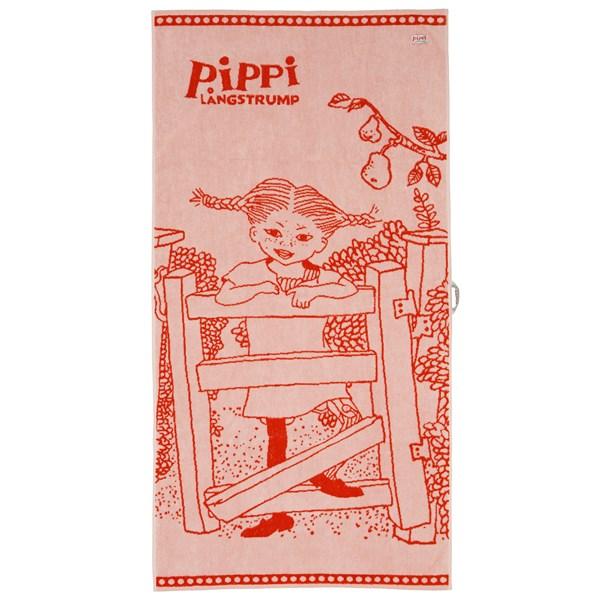 Badlakan 70x140  Röd  Pippi  Pippi Långstrump - badkläder & uv-kläder