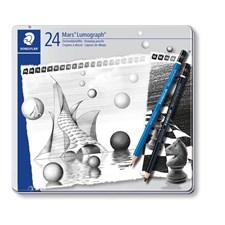 Luonnostelukynä STAEDTLER Mars Lumograph 24 kpl Premium