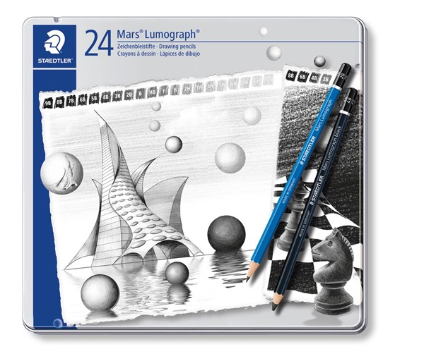 Skisspennor STAEDTLER Mars Lumograph 24-pack Premium