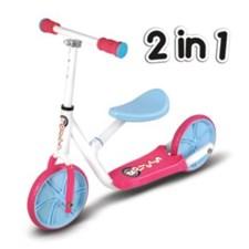 Tasapainopyörä Balance bike scooter 2-in-1, Roller R2, Sininen/Vaaleanpunainen