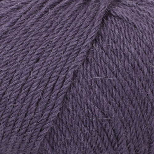 Drops, Puna Uni Colour, Garn, Alpakka, 50 g, Fiolett 12
