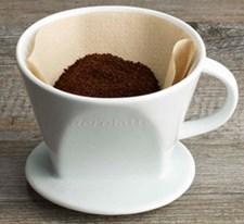 Keramisk kaffefilter, 2 kopper, Porselen, Aerolatte