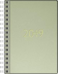 Veckokalender A6 Grön Konstskinn FSC