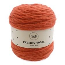 Adlibris Felting Wool 100g Orange Rust A126