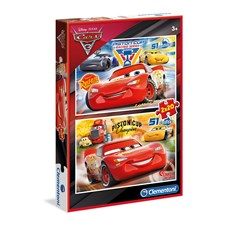 Puslespill, 2 x 20, Biler 3, Disney Pixar