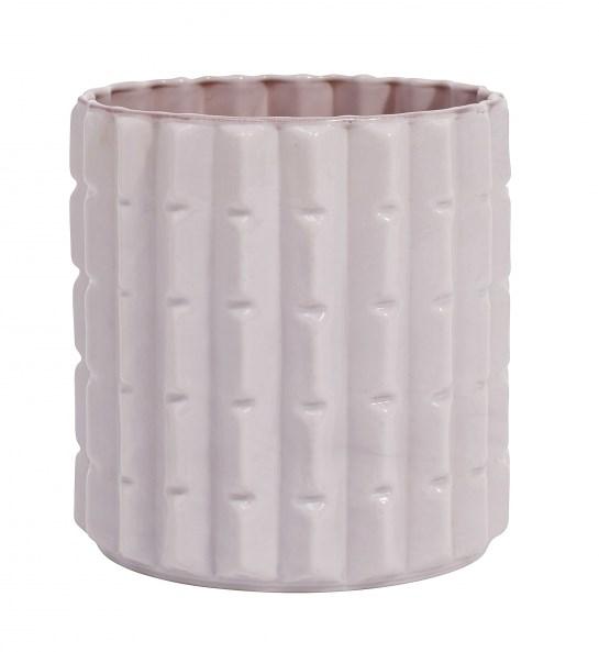Nordal OPAL Vas Keramik D 16 cm  H 16 cm (rosa & ljusgrå)