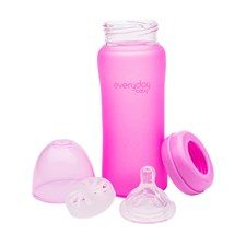 Nappflaska MilkHero 300ml, Rosa, Everyday Baby