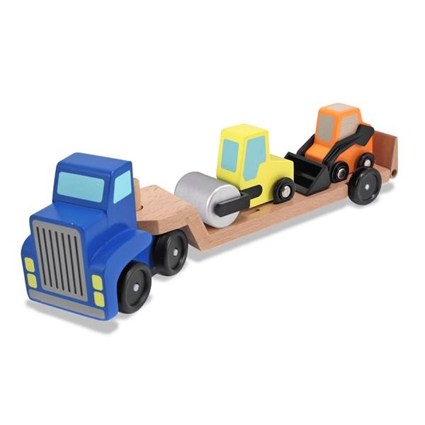 Transport med 2 arbetsfordon  Melissa & Doug - leksaksbilar & fordon